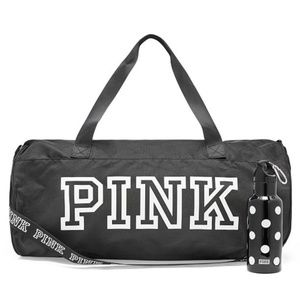 New vs duffle bag and water bottle